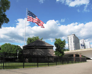 Blockhouse with Flag